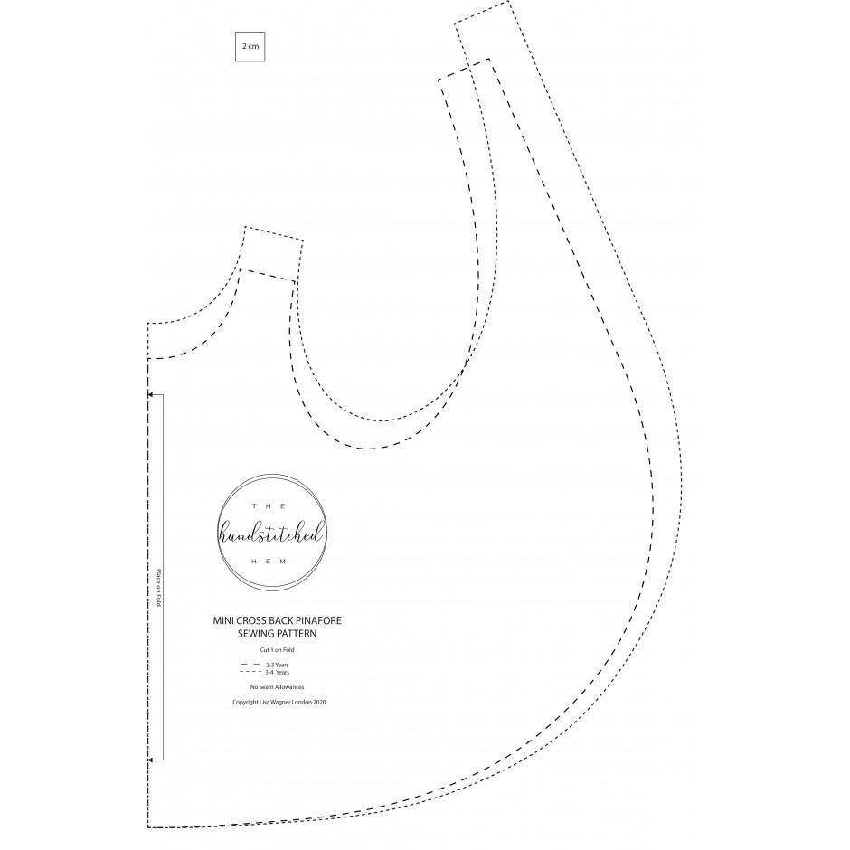 Cross Back Apron PDF Sewing Pattern