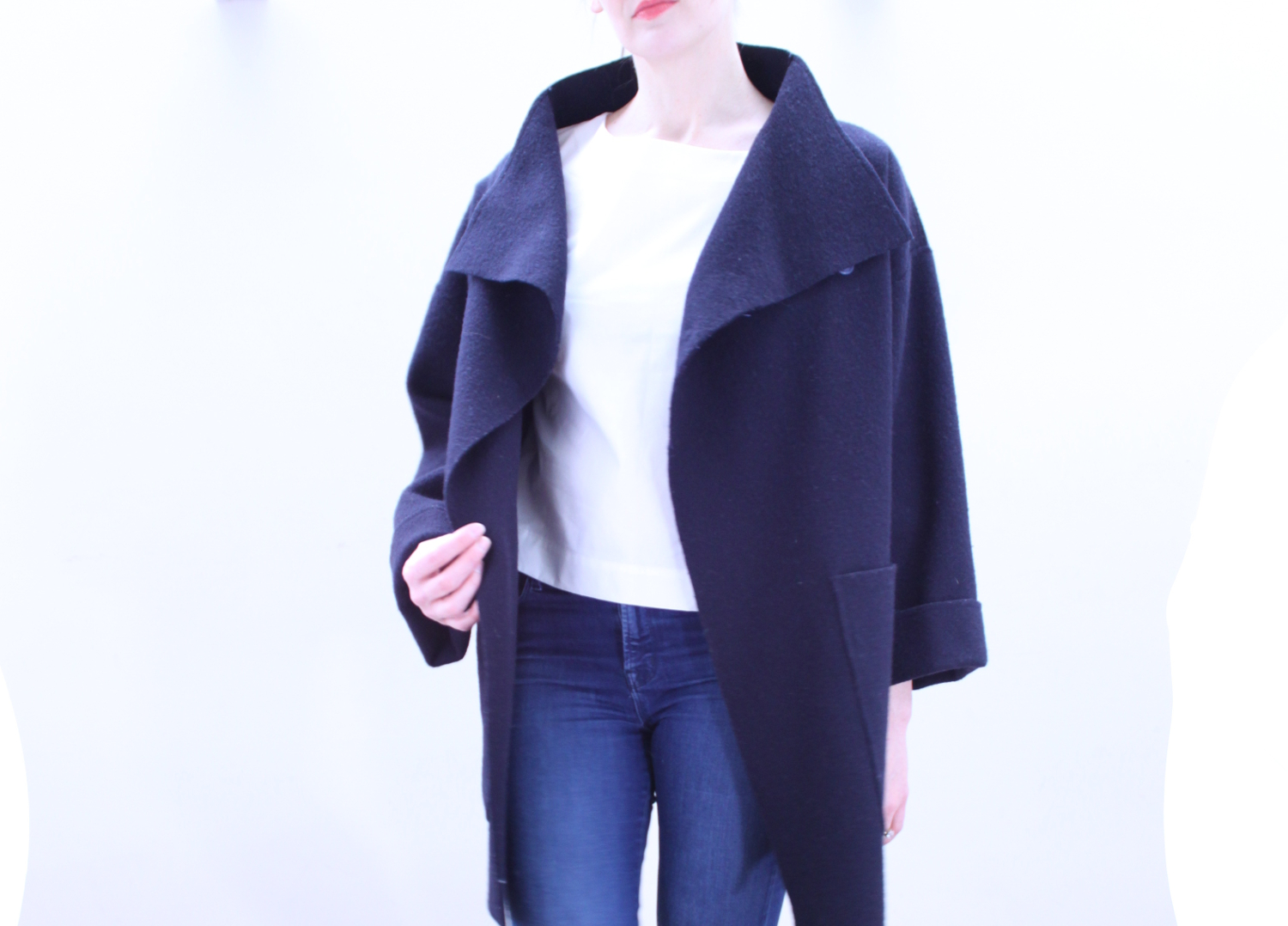 Oversized Navy Coat